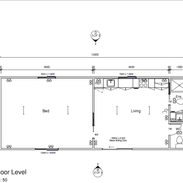 1 Bedroom 12.3 x 4.7 mtr with ensuite