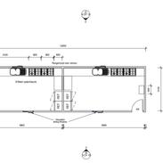 2 kitchen 12 x 3.3 mtr unit