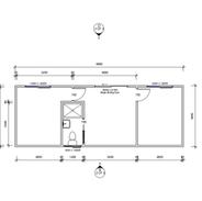 2 Room 9.9 x 3.6 mtr unit