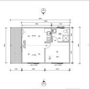 1 Bedroom 8 x 4.8 mtr unit