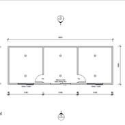 3 Room 9.9 x 3.6 mtr unit
