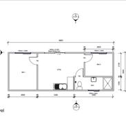 2 Bedroom 9.9 x 3.6 mtr unit