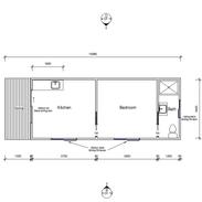 1 Bedroom 9.9 x 3.6 mtr with deck