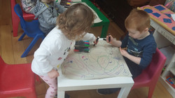 Colouring together.
