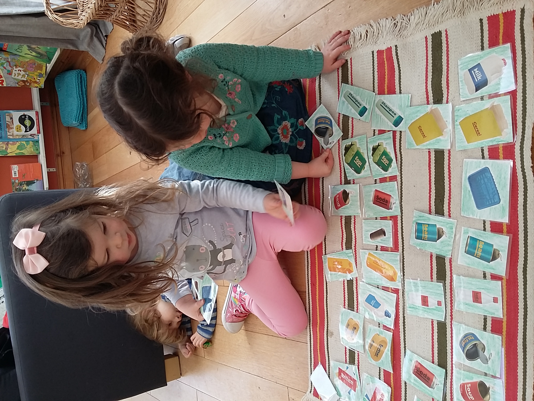 Recyling matching cards.