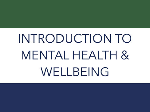 INTRODUCTION TO MENTAL HEALTH AND WELLBEING IN SCHOOLS LEVEL 2