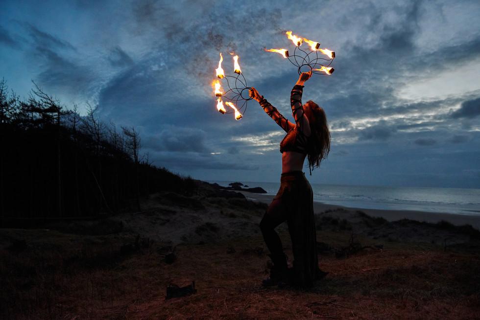Charlotte Blake Fire Artist - Anglesey