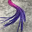 Thumbnail: 20 Pink Purple Rooster Hair Feathers Grizzly Variant Long Feather Extensions