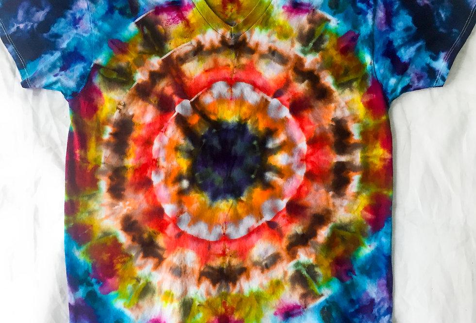 Tie Dyed Tee Shirt by Craig Bulls Eye Artsy T-shirt Mens Large
