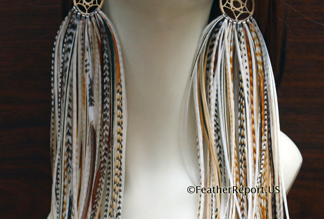 Long Feather Earrings Dreamcatcher Earrings Exotic