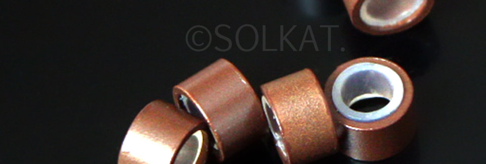 Brown Silicone Hair Crimp 5mm Industry Standard 30