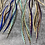 """Thumbnail: XXL hair feather extensions bonded rooster feathers 14""""-17"""" aqua blue natural"""