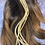 """Thumbnail: 10 xxl bleached grizzly ginger barred wide hair feather extensions 14-18"""""""