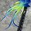 """Thumbnail: Blue Ombre Yellow Long Fluffy Craft Feathers Rooster Tails 10PCS 9-15"""""""