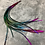 """Thumbnail: 15 Black Rainbow Rooster Feather Hair Extension Singles 8-11"""""""