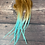 Thumbnail: 10 Rooster Saddle Feathers Ombre Aqua Brown Beach Resort Colors 10PCS