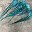 Thumbnail: 30 Caribbean Blue Grizzly Rooster Craft Feathers Bulk Pack Earring Feathers