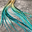 """Thumbnail: Ombre Hair Feathers Bulk Pack of 40 Turquoise Dipped Rooster Extensions 8-13"""""""