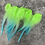 Thumbnail: Bright Kelly Green Aqua Craft Feathers Ombre Feathers for Crafts 12PCS