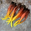 Thumbnail: Fire Flame Craft Feathers Large Rooster Tails Red Orange Yellow Black 24 pcs