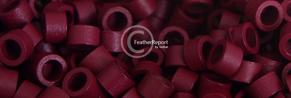 Red Hair Extension Crimp Beads - Feather Beads