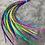 Thumbnail: Medium Long Hair Feathers Multicolor Ombre Wholesale Bulk 50 PCS