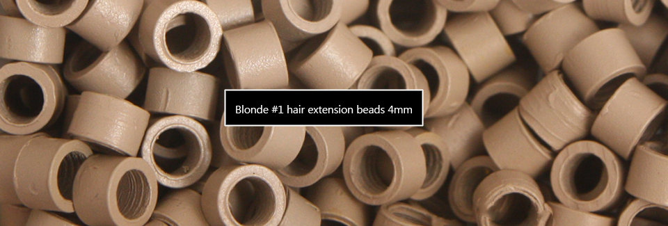 Blonde Hair Extension Beads - No1 - 4mm Threaded