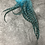 Thumbnail: Xl Turquoise Grizzly Rooster Craft Feathers for Earrings Wide Striped Pack of 12