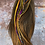 Thumbnail: The feather hair extensions pictured orchid and gold bonded extra long real