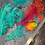 Thumbnail: Dyed Large And Medium Ostrich Feathers Burlesque Arrangements Bouquet Coral Teal