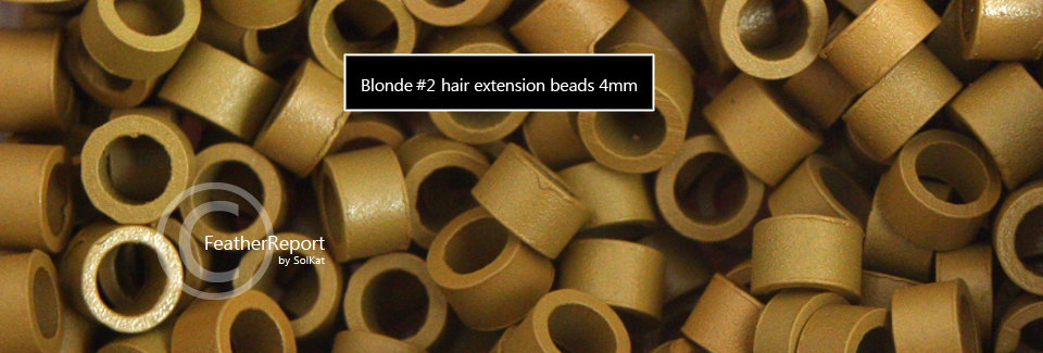 Blonde#2 Hair Extension Feather Extensions Bead