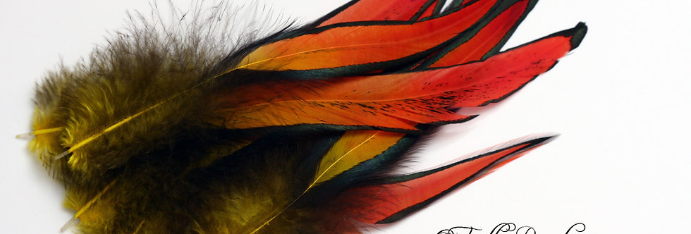 Fire Feathers Red Orange Yellow Craft Feathers