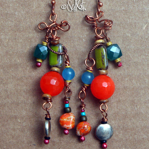 beads wedding for brides pendant bridal gift rows jewelry fashion handmade women item green gorthic necklace set bead coral turquoise stone orange