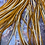Thumbnail: 20 Ginger Furnace Rooster Saddles  Long Thin Natural Brown Hair Feathers