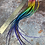 Thumbnail: Natural Rainbow Hair Feathers Bulk Pack 20 Rooster Feather Extensions