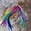 Thumbnail: 100 Bulk Rainbow Fades Hair Feathers Rooster Extensions Custom Dyed Mix