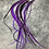 """Thumbnail: 30 XXL Purple Hair Feather Extensions Loose Rooster Feathers Bulk 30 14-17"""""""