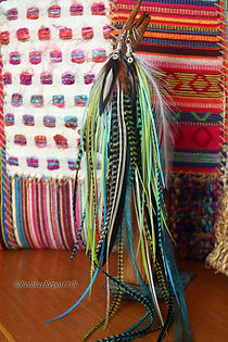 Handmade Long Feather Earrings