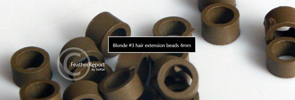 4mm Dark Blonde Screw Hair Extension Beads 20