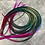Thumbnail: 15 Dark Rainbow Hair Feather Extensions Real Rooster Feathers
