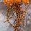 Thumbnail: Blazing Orange Rooster Craft Feathers Coq de Leon Saddle 12pcs