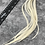 Thumbnail: Wide Hair Feather Extensions Creme White Solid Earring Feathers x 10