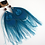 Thumbnail: Turquoise Blue Peacock Feather Earrings