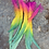 Thumbnail: Full Spectrum Bright Rainbow Rooster Craft Feathers Tail Large QTY 10