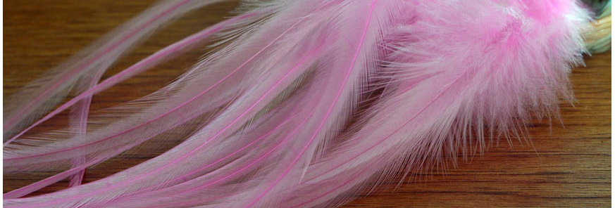 Light Pink Rooster Feathers Long Craft Feathers