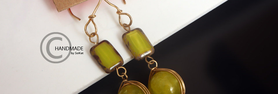 Green Stone Earrings Jade Gemstone Dangle Earrings