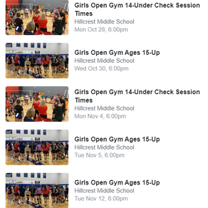 Location Change/Open Gym and Open House Info!