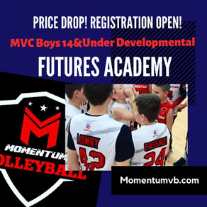 *SOLD OUT*! Boys 14&Under Futures Academy Announced!
