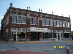 View of the main street facade