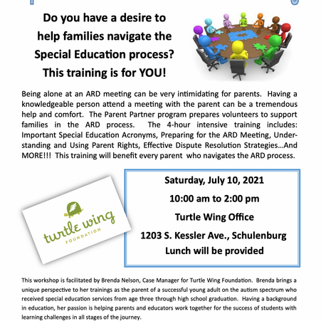 Parent Partner Training Offered by Turtle Wing